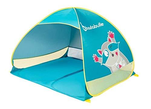 Badabulle B038203 Strandmuschel/Strandzelt für Kinder und die ganze Familie, UV-Schutz 50 Plus, Maxi-Format, Pop-Up-System, mehrfarbig
