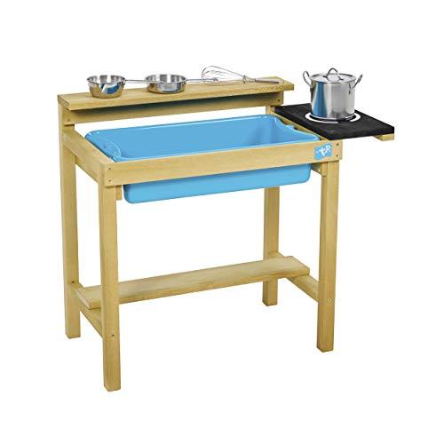 TP Toys Spielküche basic Outdoorküche Matschküche Kinderspielküche mit Zubehör Küchenutensilien 34x67x58 cm