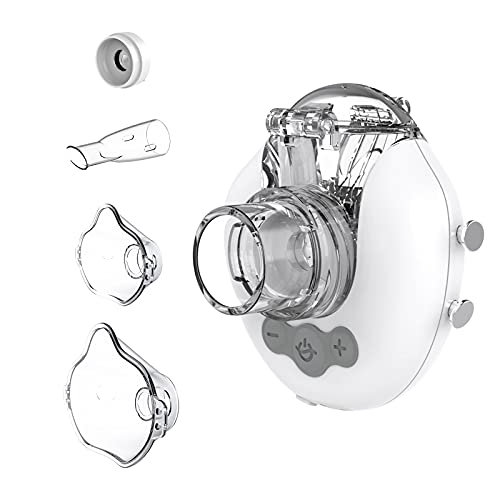 FEELLIFE Inhalator Vernebler, Inhalationsgerät für Atemwegserkrankungen wirksam, Inhaliergerät für Kinder und Erwachsene, Einstellbarer Sprühnebel, mit 2 Zerstäubermembran