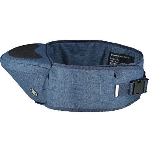 Hippychick Hüftsitz Babytrage   Leichte, verstellbare Rückenstütze, Hüfthocker, für 6-36 Monate (Jeansblau)