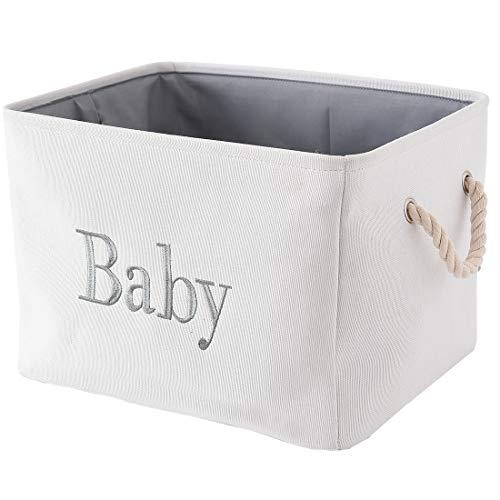 INough Aufbewahrungskorb Baby Aufbewahrungsbox Kinder, Aufbewahrungskorb Faltbar Kallax Boxen Stoff groß Korb Baby für Kinderzimmer
