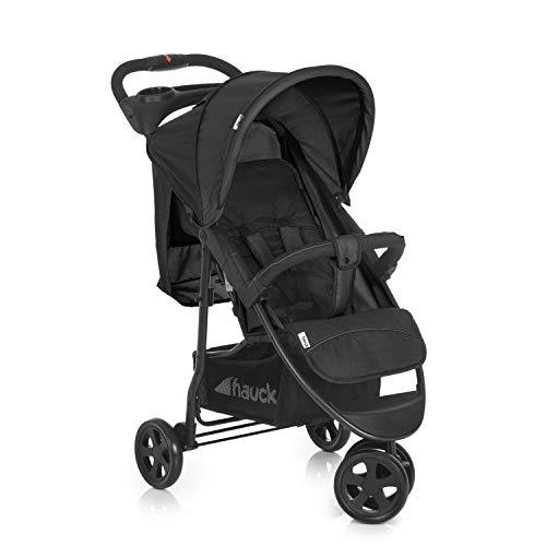 Hauck Dreirad Buggy Citi Neo 2 / Belastbar bis 25 kg / Einhändig Faltbar / Leicht - nur 7,5 kg / inkl. Getränke Halter / mit Liegeposition für Babys und Kinder ab Geburt / XL Korb / Grau