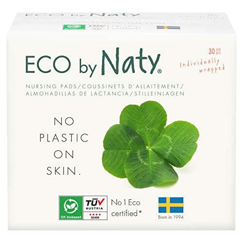 Eco by Naty Stilleinlagen – Saugfähige, Kompostierbare Einlagen Aus Bambus, Zellstoff und kompostierbarer Folie, 0% Plastik