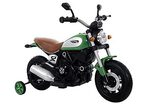 Kinder Motorrad C52 Classic Grün elektrisch 2x6V Elektromotorrad ab 3 Jahren