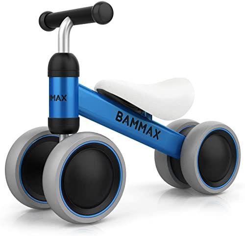 Kinder Laufrad Lauflernrad Balance Fahrrad ohne Pedale Dreirad Spielzeug für 1 Jahr, Erstes Baby Laufrad für Jungen Mädchen, Empfohlenes Alter: 10-24 Monate, Blau