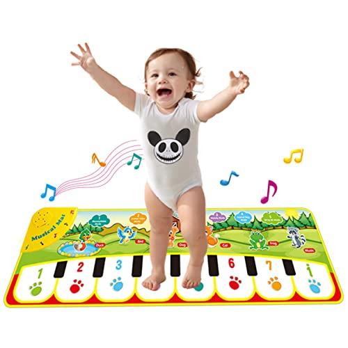 Musikmatte Ab 3-9 Jahre Alt, 28X89,5Cm Multifunktions-Klaviermatte Touch Musik Teppich Tanzmatte Klaviertastatur Spielmatte,Lernspielzeug Geschenke Für Geburtstage Und Weihnachten