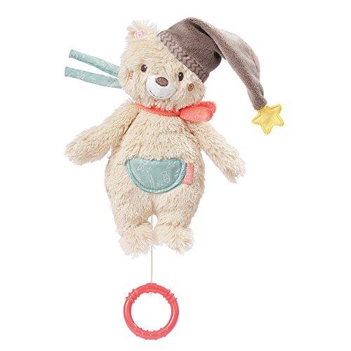 Fehn 060119 Mini-Spieluhr Bär – Aufzieh-Spieluhr mit herausnehmbarem Spielwerk – Melodie 'Brahms Wiegenlied' – Für Babys und Kleinkinder ab 0+ Monaten – Maße: 20 cm
