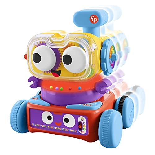 Fisher-Price HCK39 - Linus der 4-in-1 Lernroboter für Babys, ab 6 Monaten – deutschsprachig