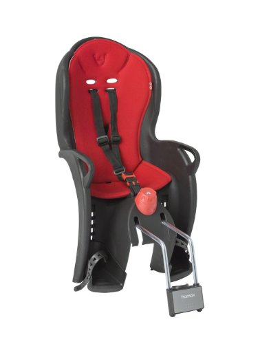 HAMAX Kinderfahrradsitz Sleepy Kindersitze, schwarz/rot, Einheitsgröße