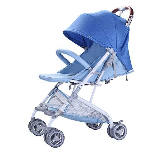 DGHJK Faltbarer Kinderwagen,Buggy, Reisebuggy, Kinderbuggy, Regenverdeck, Einhand-Faltmechanismus, Liegefunktion,5-Punkt-Sicherheitsgurt, für ab 0 Monate -3Jahre (0-25kg)