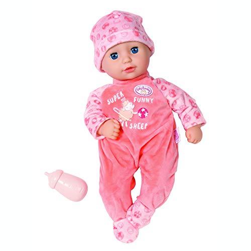 Zapf Creation 706343 Baby Annabell Little Annabell 36cm - Für Kleinkinder ab 1 Jahr - Einfach für kleine Hände - Mit Schlafaugen - Enthält weiche Puppe, Strampler, Flasche und Mütze