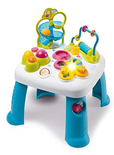 Smoby 110426 Table d'Activités Cotoons Activity-Spieltisch, Baby, Motorikspielzeug, Kugelbahn, Steckspiel, für Kinder ab 12 Monaten, Mehrfarbig