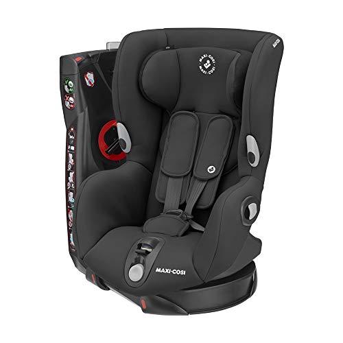 Maxi-Cosi Axiss Kindersitz, 180° drehbarer Kleinkind Gruppe 1 Autositz (ca. 9-18 kg) wächst mit dem Kind und inkl. 8 Sitzpositionen, nutzbar ab ca. 9 Monate bis ca. 4 Jahre, Authentic Black, Schwarz
