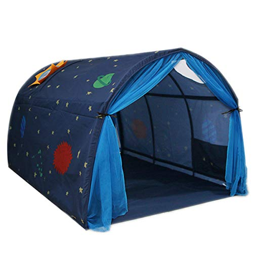 Dreamworldeu Tunnel für Hoch- und Etagenbetten Spielbett Kindersbett Navy Blau