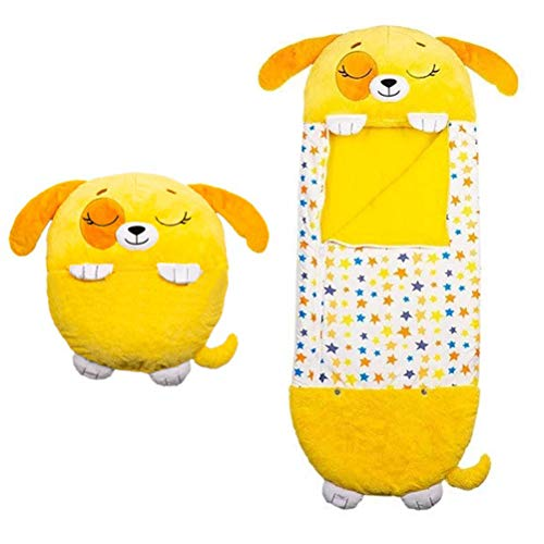 Sttoce Happy Nappers Play Pillow, Fun Sleeping Bag for Kids, Soft Folding Childrens Animal Sleeping Bag, Happy Napper for Christmas