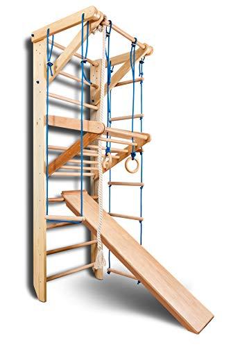Sportgerät Turnwand Kinder Gym Sport-3-220 Klettergerüst Fitness Kletterwand Holz Sprossenwand mit Stange