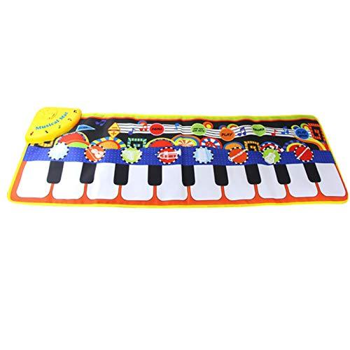 Klaviermatte, 19 Tasten, Spielmatte für Klavier, Kinder, Spiel, Tastatur, Musik, Tanzmatte, Lernspielzeug, für alle Haustiere (Größe: A)