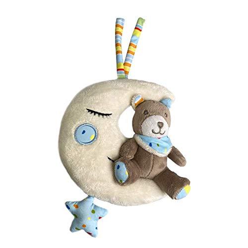 Spieluhr Mond mit Teddybär zum Aufhängen