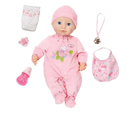 Baby Annabell B01EJKLX2U weiche Babypuppe mit vielen lebensechten Funktionen mit Schlafaugen und Zubehör, Single, Mehrfarbig, 46 cm