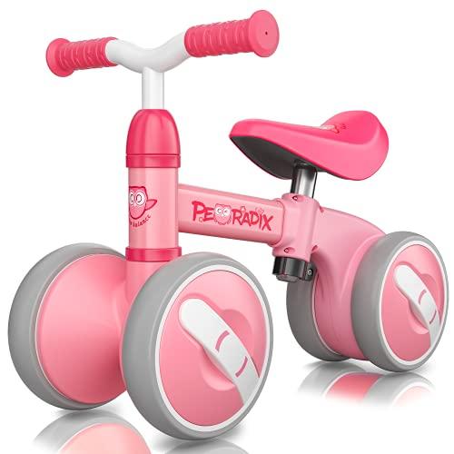 Peradix Kinder Laufrad Lauflernrad Höhenverstellbar | Balance Fahrrad ohne Pedale | Balance Bike für 10-36 Monate | Kinderspielzeug Dreirad Geschenk für Geburtstag, Neujahr, Weihnachten