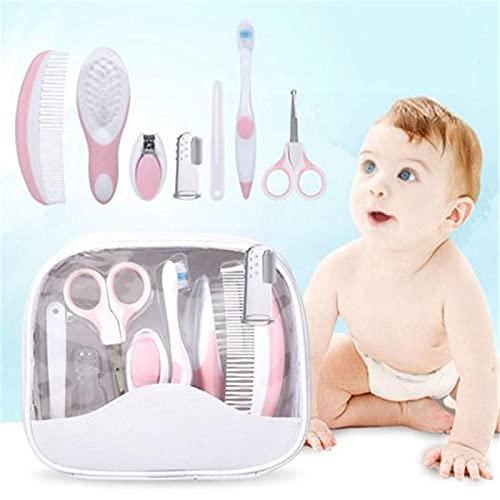 baby nagelscheren,nagelpflegeset,geschenk,Nageltrimmer,Pflege Maniküre Neugeborener Sicherheitskamm, Haarbürste, Fingerzahnbürste, Nagelknipser Pflege Gesundheitswesen Babypflege 7 Stück Pflegeset