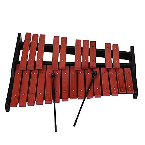 zhengowen Xylophon 25 Note Hölzernes Xylophon Percussion Pädagogisches Musikinstrument mit 2 Schläger Perkussions-Xylophon (Farbe : Braun, Size : One Size)