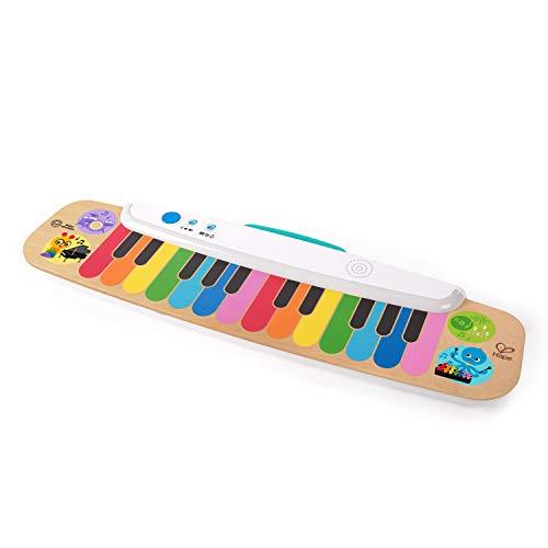 Baby Einstein 12397 Hape Notes & Keys Magic Touch Elektronisches Keyboard aus Holz für Kleinkinder, mehrfarbig