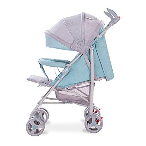 Kinderwagen, voll zurücklehnender Premium-Kinderwagen für Babys bis Kleinkinder leichter bequemer zusammenklappbarer Vierrad-Kinderwagen, Verstellbare Rückenlehne