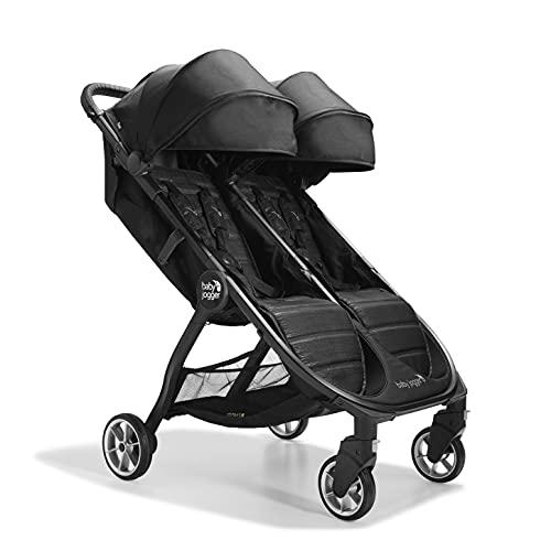Baby Jogger City Tour2 Double Doppelkinderwagen für Reisen   leichter, zusammenklappbarer und tragbarer Zwillingsbuggy   Pitch Black