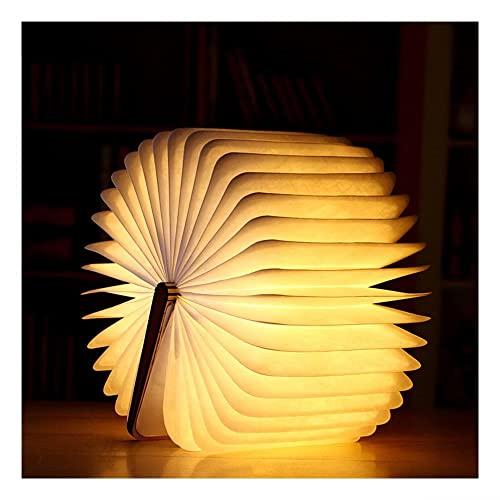 Magnetisches LED Buchlampen, Hölzerne Faltende Buchlampe, Dekorative Lichter/Nachtlicht, USB Aufladbare Schreibtisch Lampe, für Kinder Freundin Geschenk Home Decor
