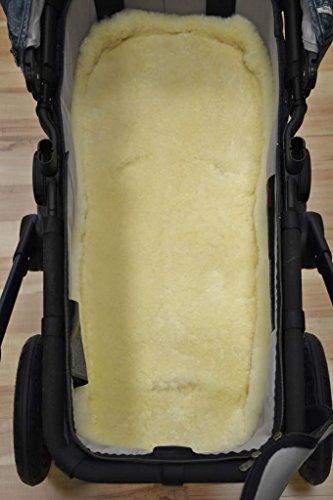 Lammfell Baby Kinderwagen medizinisch ökologisch Natur-Fell Merino für Kindersitz waschbar 80 x 40 cm