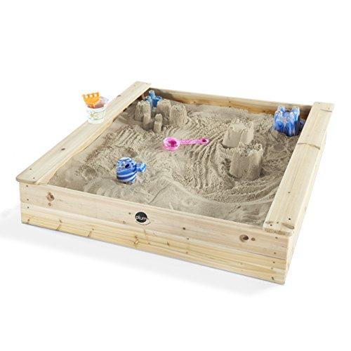 Plum quadratischer Kinder Holz Sandkasten mit Sitzbänken - 25055