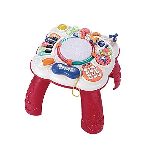 Baitang Table D'Activités Cotoons Activity-Spieltisch, Baby Motorikspielzeug, Kugelbahn, Steckspiel, Kinder Spielzeug Lernspielzeug 1 Jahr