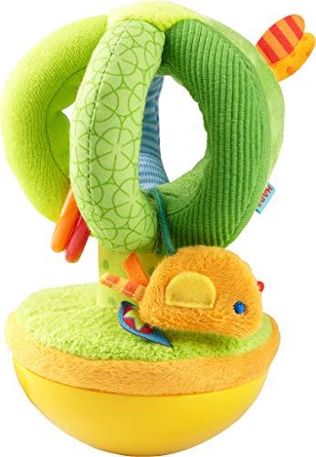 HABA 304281 - Stehauffigur Zauberbaum, Stoffspielzeug mit Vögelchen für Babys ab 6 Monaten, inklusive Wackel- und Klingeleffekt