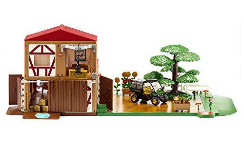 siku 5608, Bauernhof, Kunststoff, Multicolor, Inkl. Fahrzeug (Metall) und Zubehör, Vielseitig aufbaubar, Viele Funktionen