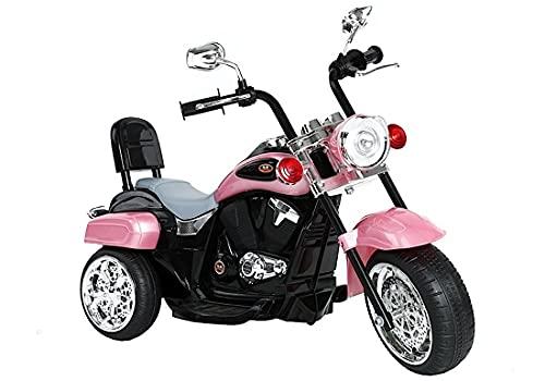 Kinder Motorrad Chopper FX Trike Pink elektrisch Elektromotorrad ab 3 Jahren mit Licht und Sound