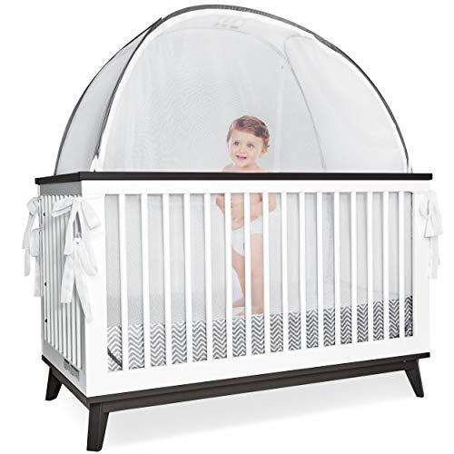 """Pro Baby Safety Säuglingsbett - Sicherheits-Pop-up-Zelt """"Durchsichtiges Kinderbett und Kindergarten-Netzbezug, Netz mit Sichtfenster - Sicherheitsoberteil mit Reißverschluss"""