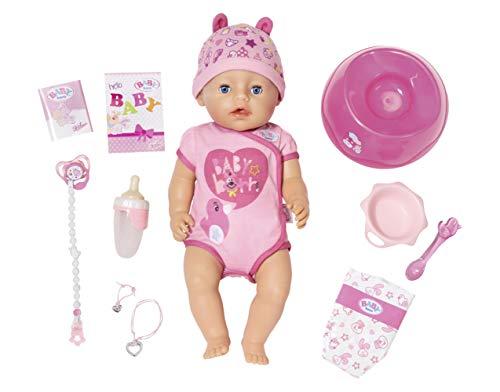 BABY born 824368 Soft Touch Girl Puppe mit lebensechten Funktionen und viel Zubehör, bewegliche Gelenke und weiche Soft-Touch-Oberfläche, 43 cm