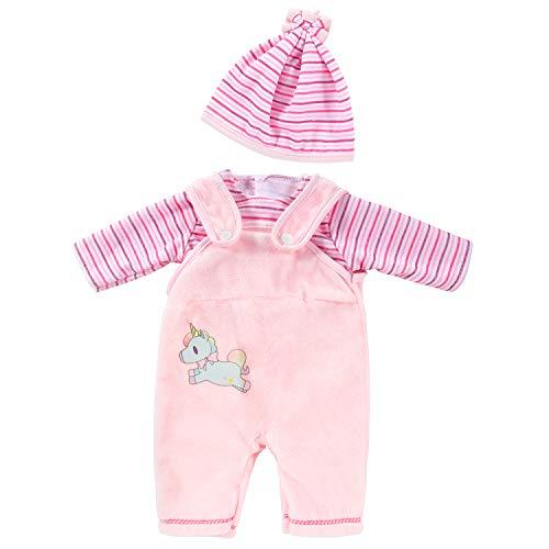 ZOEON Puppenkleidung für New Born Baby Doll, Outfits mit Hut für 18 ' Puppen (40-45 cm) (Rosa)