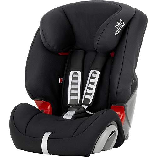 BRITAX RÖMER Kindersitz 9-36 kg EVOLVA 1-2-3, Komfort und Flexibilität für Kinder (Gruppe 1/2/3), 9 Monate bis 12 Jahre, Cosmos Black