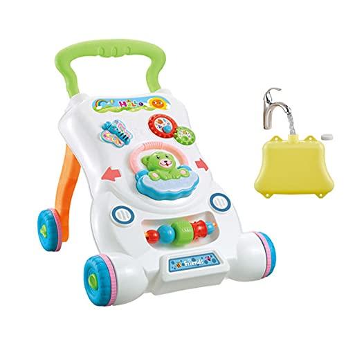 fdsfa Lauflernhilfe mit Sound & Licht, Klaviertrommel Baby Lernhilfe, Baby Activity Walker Puzzle Lernunterhaltungstisch, Sitzen zum Stehen Erster Schritt Lernen Walker