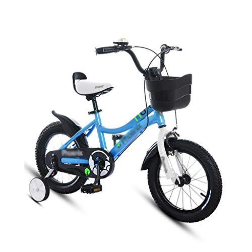 Kinderfahrräder Kinderwagen Kinder Mountainbike Lernen Rennrad Campus Bike Boy Girl Fahrrad (Color : Blue, Size : 14 inches)