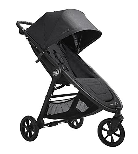 Baby Jogger City Mini GT2 leichter Kinderwagen   für jedes Gelände   Schneller Einhand-Faltmechanismus   Opulent Black (Schwarz)