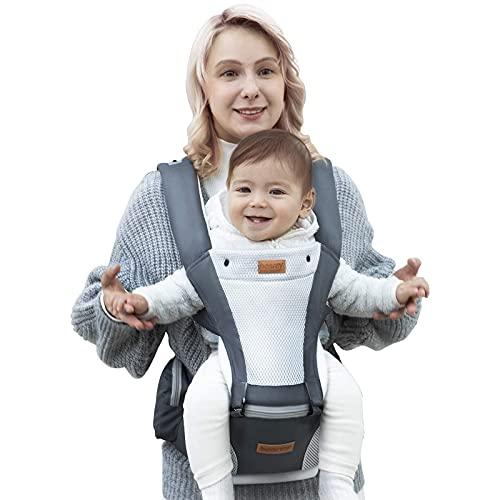 Babytrage Kindertrage Bauchtrage Rückentrage Ergonomische Leicht für Neugeborene Kleinkinder Mesh Babytragetasche für Babys von 3,5 bis 20 kg