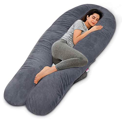 Wndy's Dream Schwangerschaftskissen Stillkissen Premium XXL U-förmiges Schwangerschaftskissen Body Pillow voor slaap