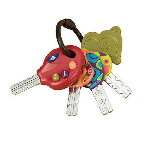 B. toys by Battat 44174 B. Toys – LucKeys – Bunte Schlüssel Babys – Autoschlüssel Spielzeug mit Licht und Geräuschen für Kinder und Babies ab 10 Monaten