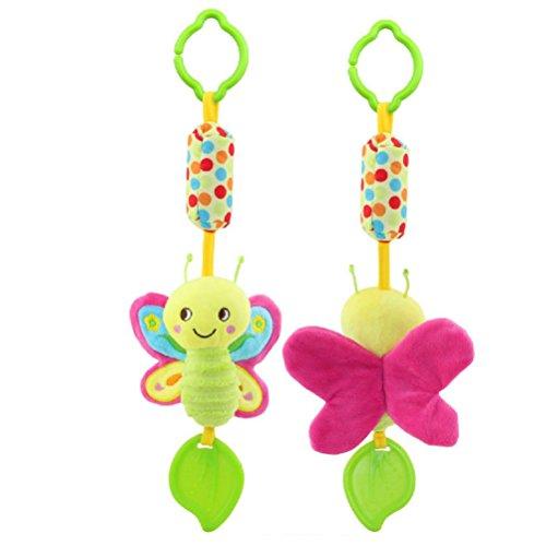 YeahiBaby Activity-Spirale/Stoff-Spirale Plüschtiere für Baby Bett Kinderwagen Laufgitter Anpassbar Baby (Schmetterling)