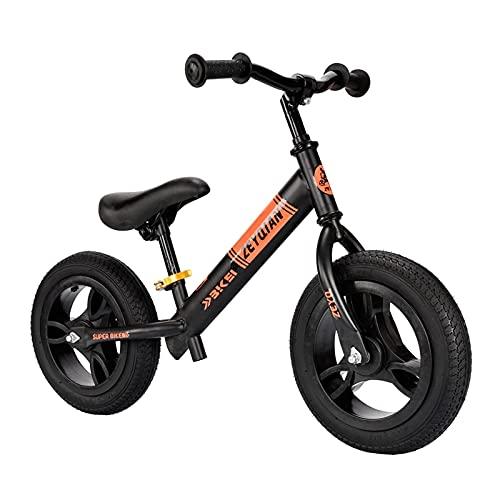 DGHJK Laufrad für 2, 3, 4, 5, 6 Jahre, Jungen, Mädchen, Carbonstahlrahmen, kein Pedal, Laufen, Laufrad, Trainingsfahrrad für Kinder und Kleinkinder (Farbe: Pink)