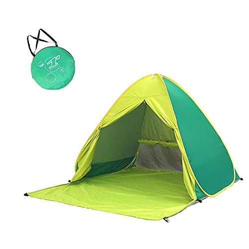 YULINGSTYLE Strandmuschel Pop Up, Zelt mit UV Schutz 50+ Outdoor Tragbar Extra Light Strandzelt, für Familie, Strand, Garten, Camping für 1-3 Personen