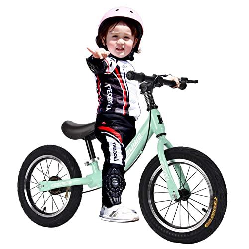 Kinder Laufrad Lauflernrad Kinderrad Mit Sitzlift Und Bremse Sport Kinderlaufrad Rahmen Aus Kohlenstoffstahl Für Jungen Und Mädchen Ab 3-7 Jahre,Grün